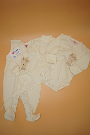 Komplet niemowlęcy 5-częściowy Miś Pióra r.62