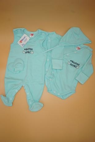 Komplet niemowlęcy 5-częściowy Super Gość r.62