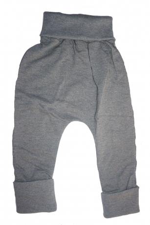 Spodnie dziewczęce pumpy szary 86/92
