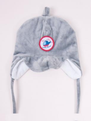 Czapka zimowa chłopięca BALTAZAR r.34-36cm szary