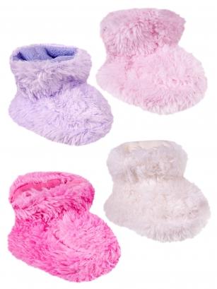 Botki polarowe niemowlęce 0-6m ecru