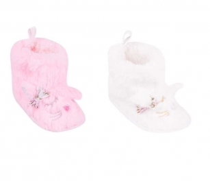 Botki polarowe niemowlęce 0-6m kotek ecru