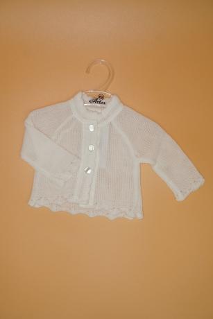 Sweterek Dziewczęcy 62 Chrzest biały