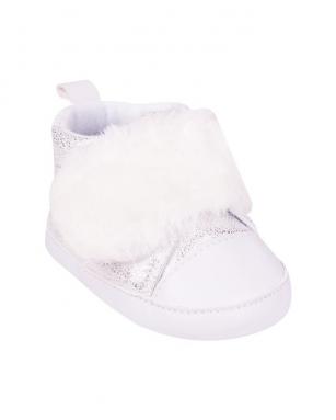 Buciki dziewczęce na rzep 0-6 miesięcy biały