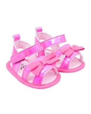 Sandałki dziewczęce błysk 6-12 miesięcy różowy