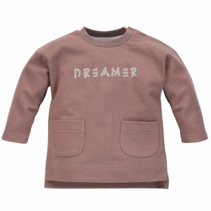Bluza Dreamer z kieszeniami ciemnobeżowa 86