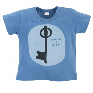 T-shirt ciemnoniebieski Summertime 98