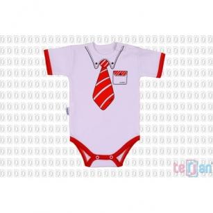 Body Celebrity Krótki czerwony krawat r.86