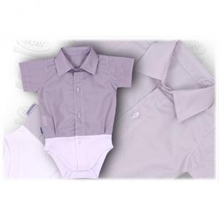 Body Koszula krótki szary r.86