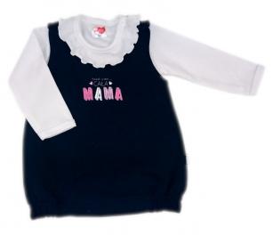 Komplet sukienka plus body z falbanką Cała Mama r.68