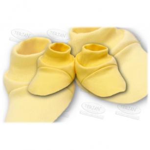 Buciki bawełniane żółty