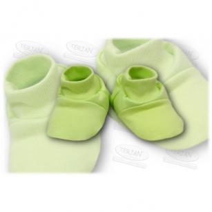 Buciki bawełniane zielony