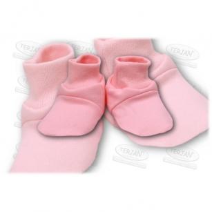 Buciki bawełniane różowy