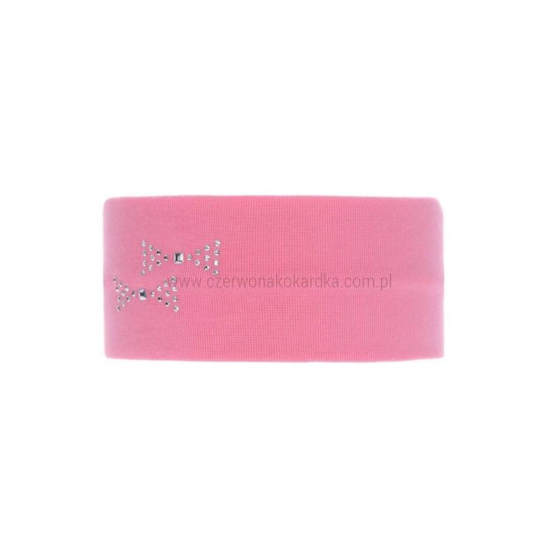 Opaska bawełniana dziewczęca jesienna/wiosenna Iskra różowy r.46-48cm