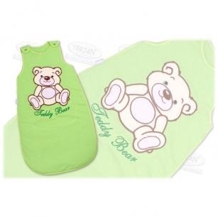 Śpiworek TEDDY BEAR 86 zielony