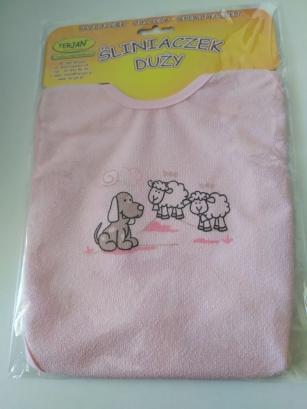 Śliniak duży różowy Piesek i Owce