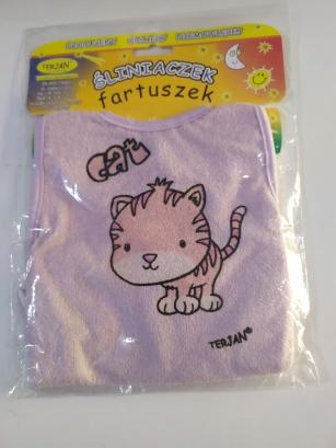 Śliniak fartuszek wrzos Kotek Cat