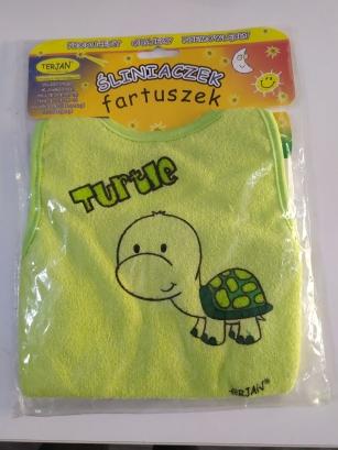 Śliniak fartuszek zielony Żółw Turrtle