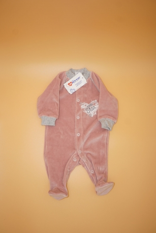 Pajacyk welurowy dziecięcy Little Star r.68
