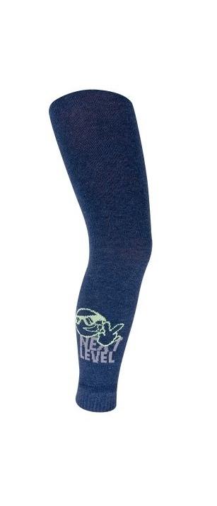 Kalesony bawełniane chłopięce wzór 128-134cm niebieski - buźka