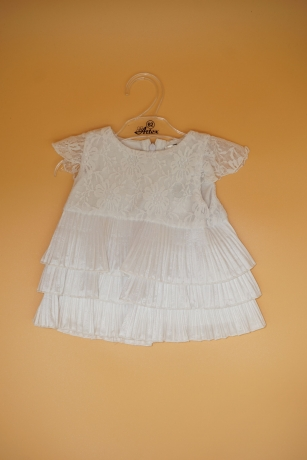 Sukienka do Chrztu koronka 62 biały