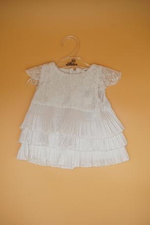 Sukienka do Chrztu koronka 80 biały