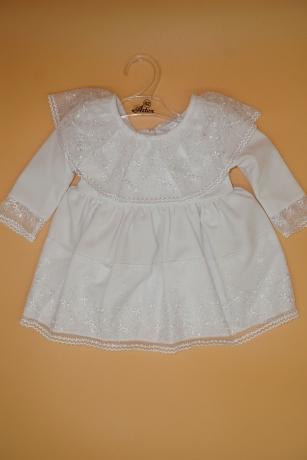 Sukienka do Chrztu koronka Hiszpanka 68 biały