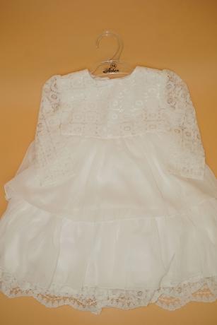 Sukienka do Chrztu koronka 74 biały ecru