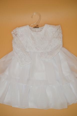 Sukienka do Chrztu koronka 74 biały