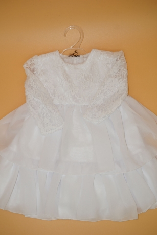 Sukienka do Chrztu koronka 86 biały