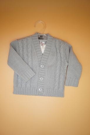 Sweterek Chłopięcy 68 warkocz szary