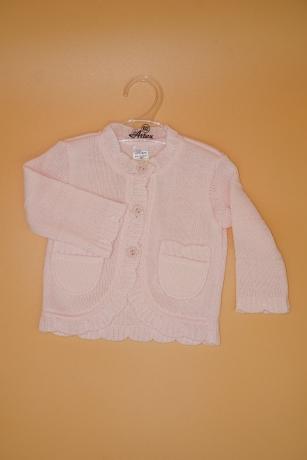 Sweterek Dziewczęcy 62 kieszonka jasnoróżowy