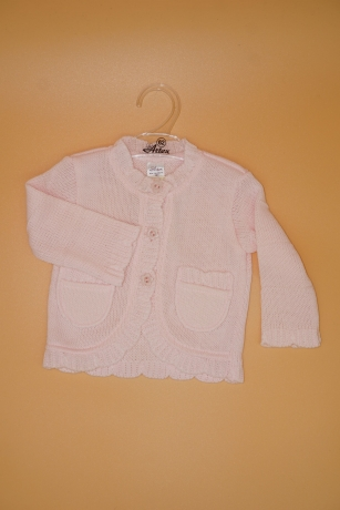 Sweterek Dziewczęcy 68 kieszonka jasnoróżowy