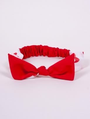 Opaska dziewczęca Roxi czerwona 42-48cm