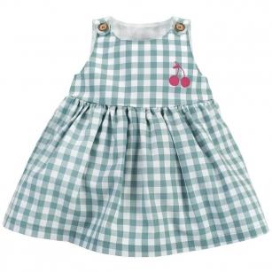 Sukienka w zieloną kratkę Sweet Cherry 86
