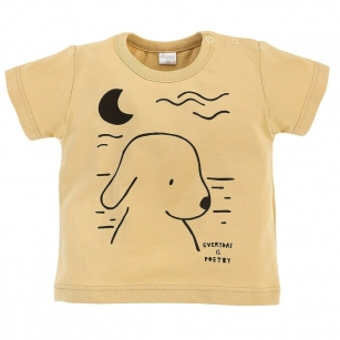 T-shirt żółty z pieskiem Summertime 92