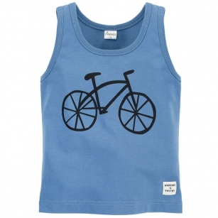 Podkoszulek ciemnoniebieski z rowerem Summertime 104