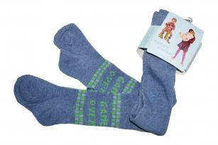 Rajstopy bawełniane dziecięce wzór Game Over r.68/74 niebieski