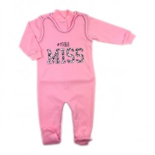 Komplet Śpiochy i kaftanik niemowlęcy # mała Miss r.62