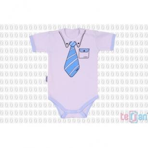 Body Celebrity Krótki niebieski krawat r.86