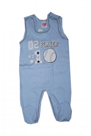 Śpiochy niemowlęce 02 Player niebieski 68