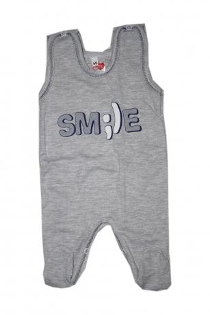 Śpiochy niemowlęce Smile szary 68