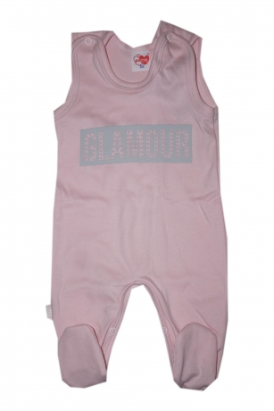 Komplet Śpiochy i kaftanik niemowlęcy Glamour r.68