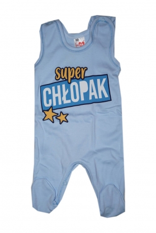Komplet Śpiochy i kaftanik niemowlęcy Super Chłopak r.50