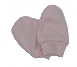 Łapki niedrapki rękawiczki jasnoróżowy