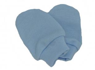 Łapki niedrapki rękawiczki niebieski