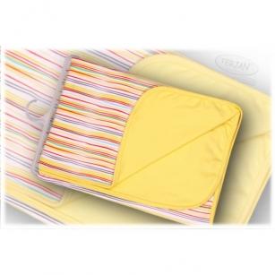 Kocyk bawełniany żółty